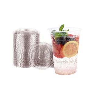 Compostable lids for cold cups